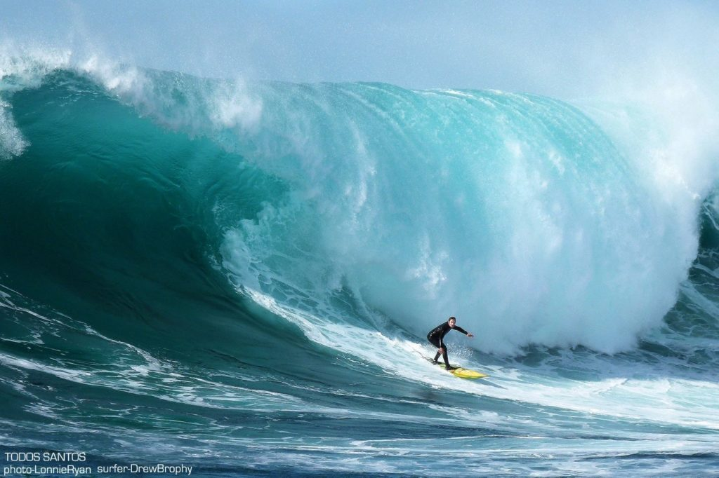 Drew Brophy Surfing Todos Santos Big Waves Photo by Lonnie Ryan preview